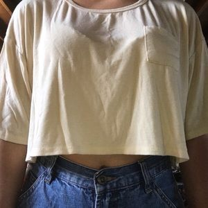 Forever 21 baby yellow loose crop top